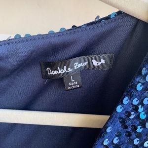 Double Zero Dresses - Altar'd State Blue Sequined cocktail dress
